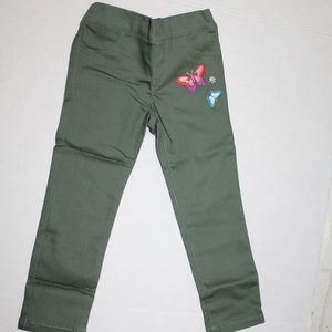 Crazy 8 Pants Green Girls 3T Butterfly